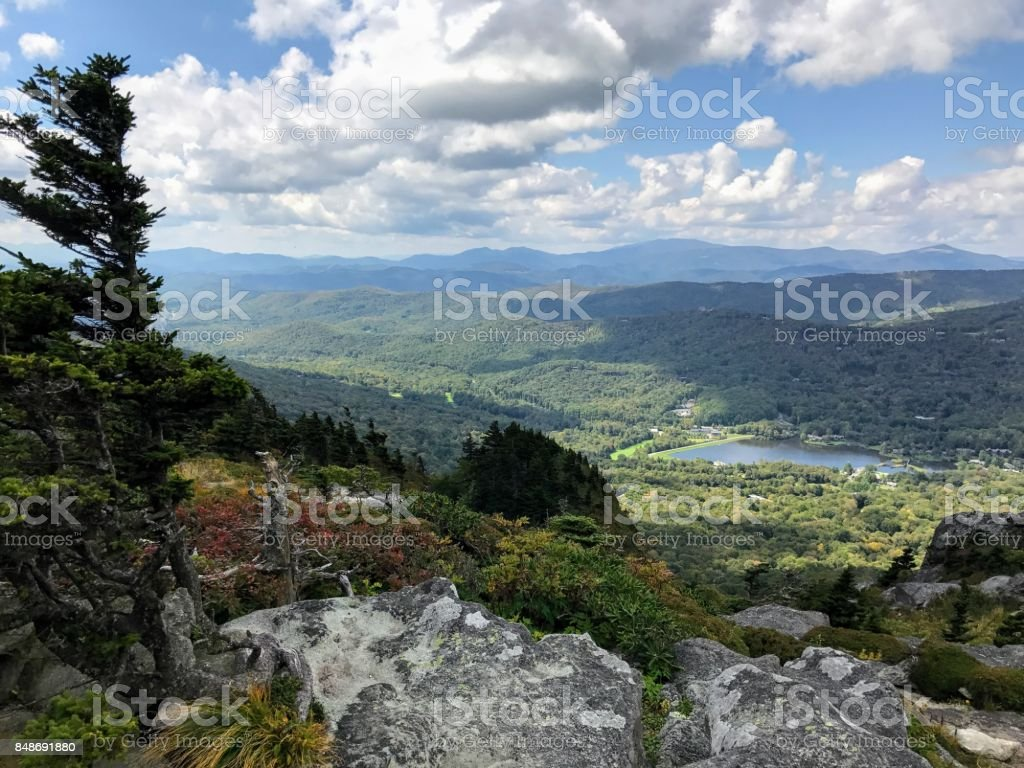 Scenic Grandfather Mountain Views stock photo