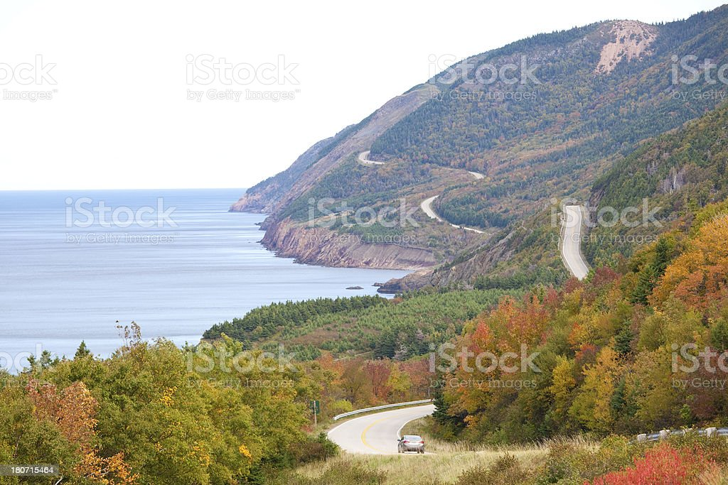 Scenic Highway Along The Sea royalty-free stock photo