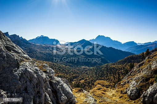 Spectacular mountain scenery in Dolomite Alps, Italy