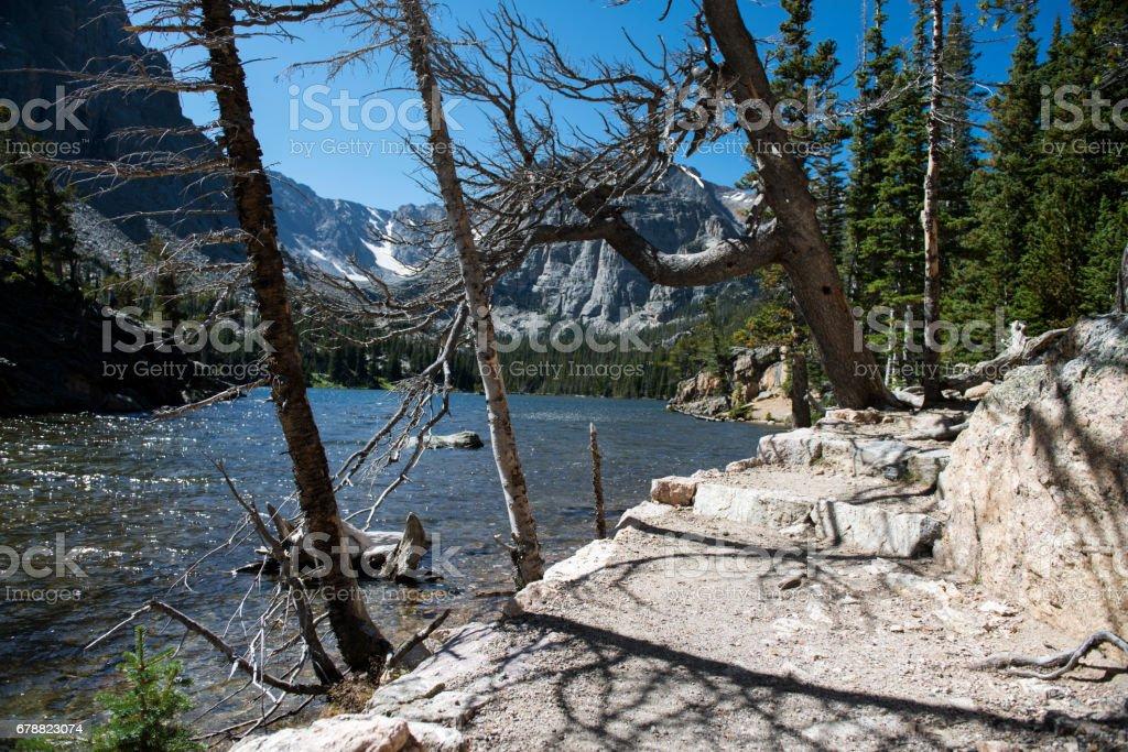 Doğa yürüyüşü iz royalty-free stock photo