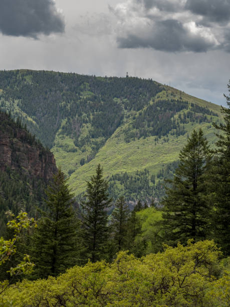 Scenic hills with clouds in Colorado stock photo
