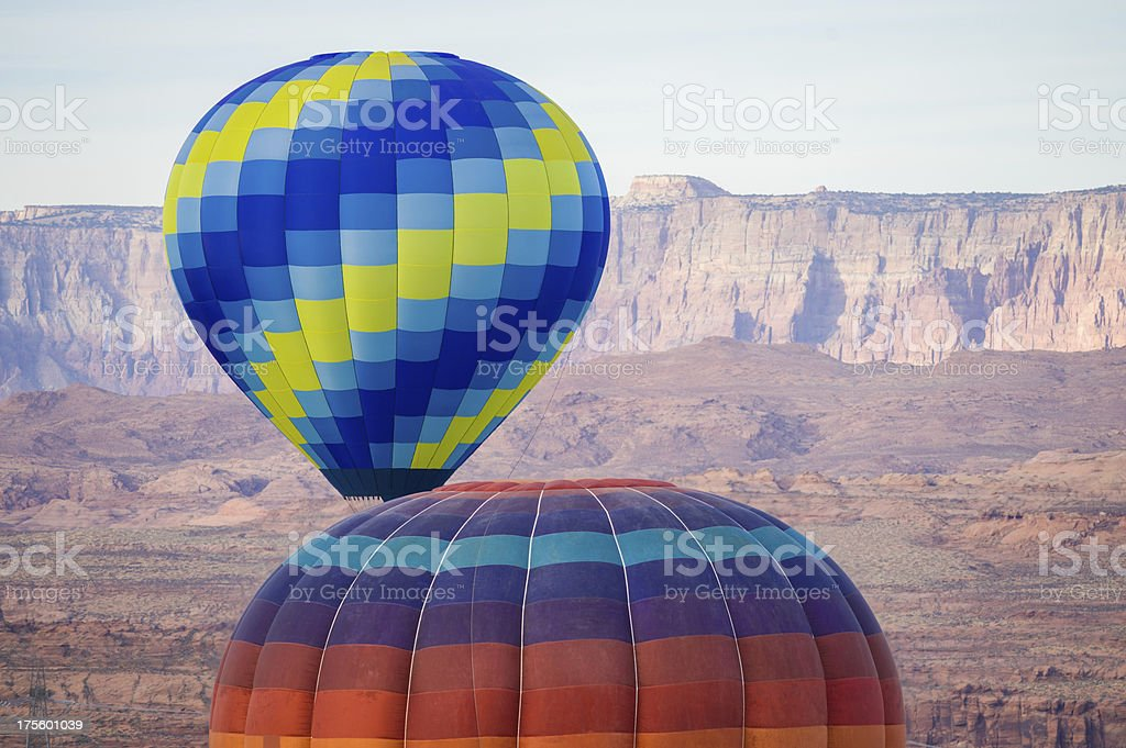 Scenic Hot Air Balloons Over Lake Powell stock photo