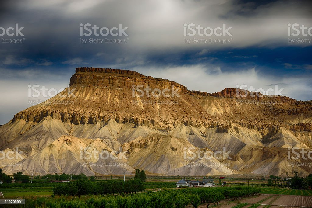 Scenic Image Grand Mesa, Colorado Springs, Colorado stock photo