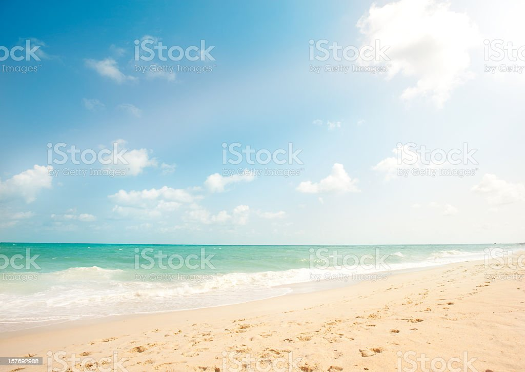 Scenic image of a beach with white sand royalty-free stock photo