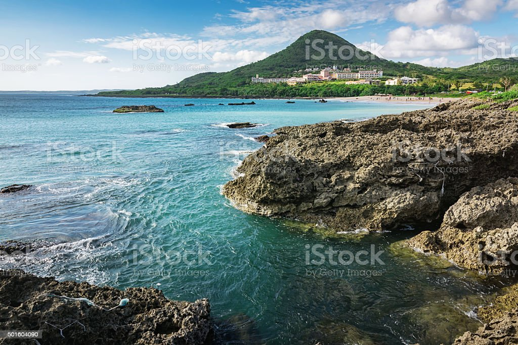 Scenic Kenting National Park Coast Taiwan stock photo