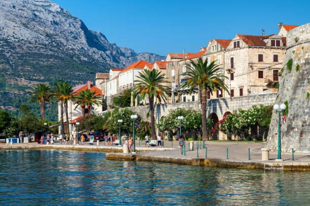 Scenic Korcula Island in Croatia stock photo