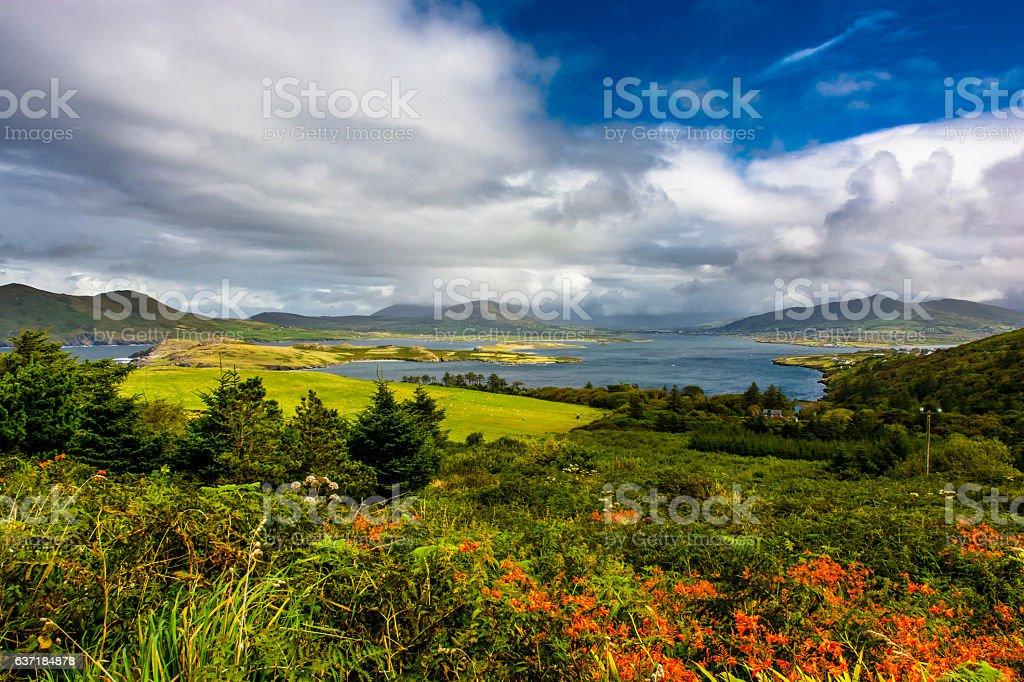 Scenic Landscape at the Coast of Ireland stock photo