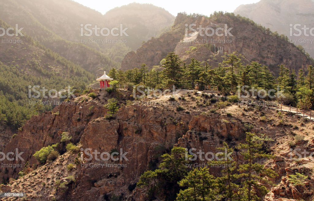 Scenic landscape in Helan mountains, Ningxia province, China stock photo