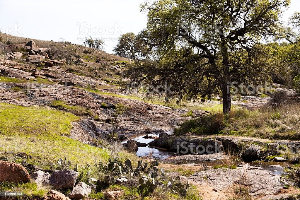 Scenic landscape in the Texas Hill Country royalty-free stock photo