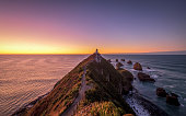 Nugget Point is one of the most distinctive landforms along the Otago coast of New Zealand. It's a steep headland with a lighthouse and a scattering of rocky islets. This is extremely beautiful.