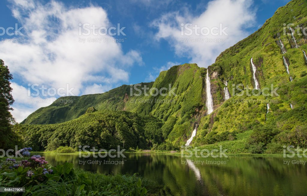Scenic landscape of volcanic islands of Azores – Foto