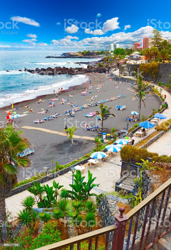 Scenic landscape.Canary island  Seascape.Tenerife village.'n royalty-free stock photo