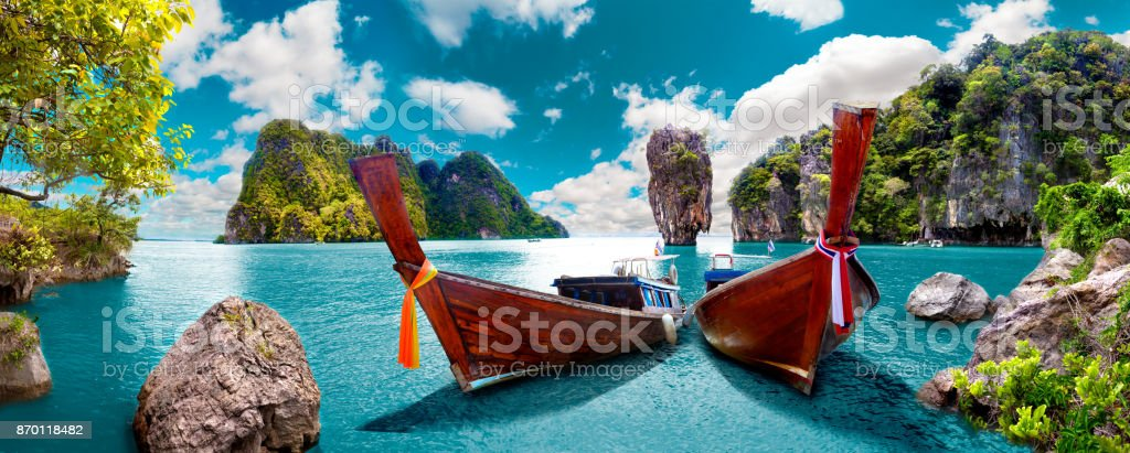 Scenic landscape.Phuket Seascape stock photo