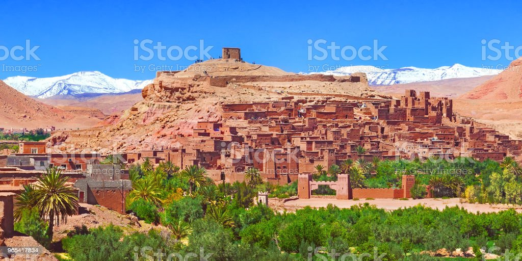 Scenic landscapes of morocco. Village of Ouarzazate zbiór zdjęć royalty-free