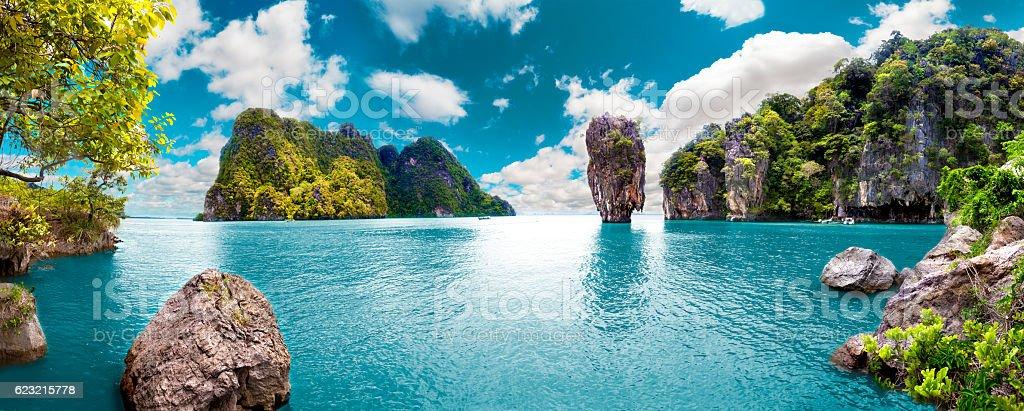 Scenic landscape.Seascape stok fotoğrafı