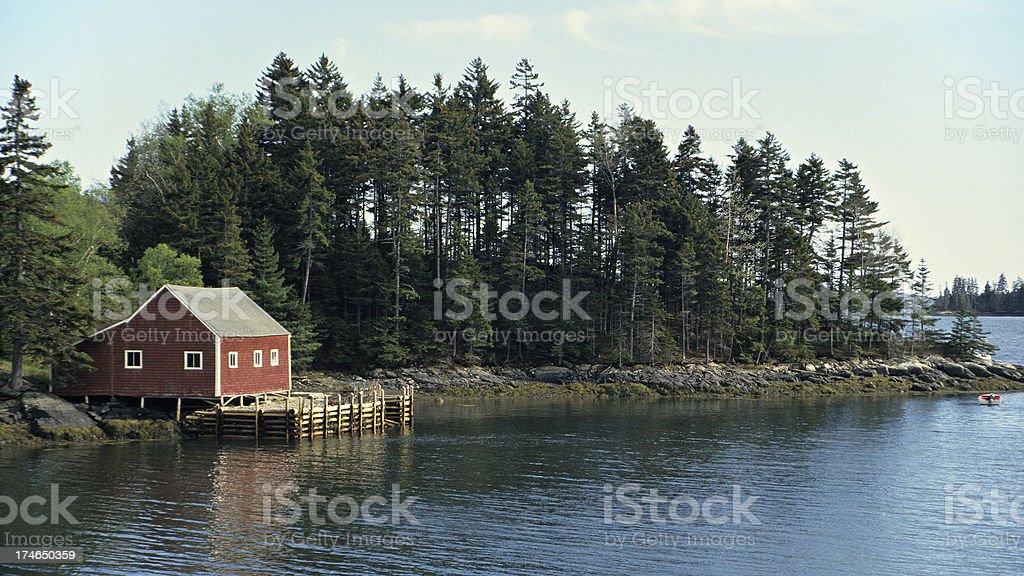 Scenic Maine royalty-free stock photo