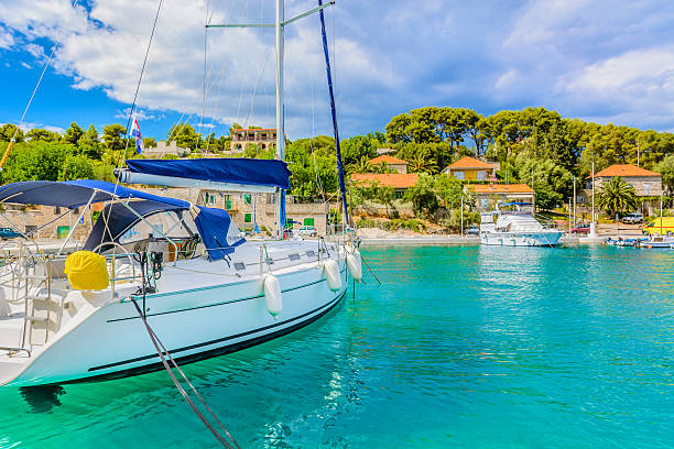 Scenic mediterranean bay Croatia. – Foto