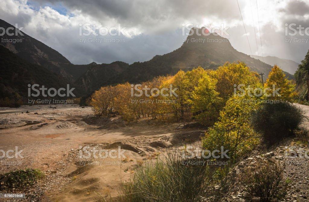 Scenic mountain autumn landscape, Greece royalty-free stock photo