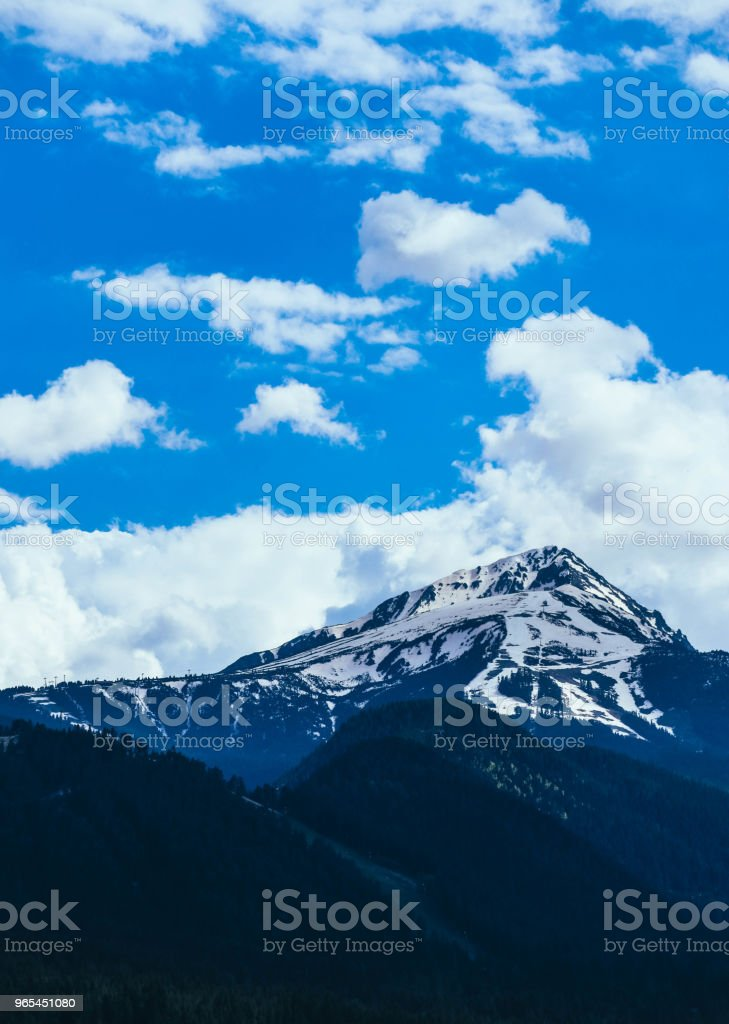 Scenic mountain high peaks with snow. royalty-free stock photo