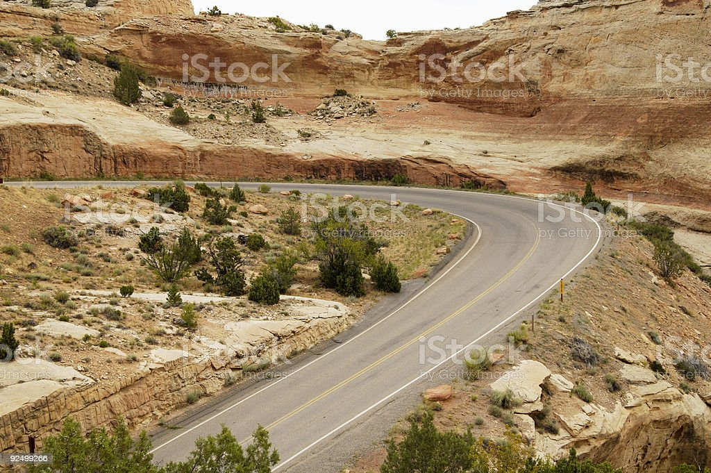 Scenic Mountain Highway royalty-free stock photo