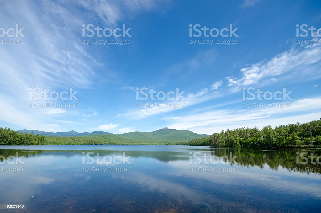 Scenic Mountain Lake View stock photo