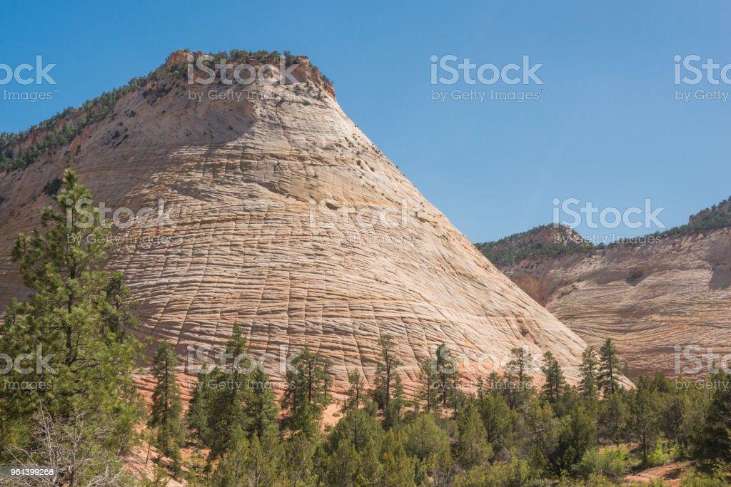 Paisagem cênica montanha em Utah Primavera Zion National Park - Foto de stock de Beleza natural - Natureza royalty-free