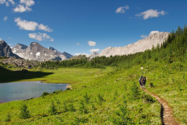 Scenic Mountain Views Kananaskis Country Alberta Canada Hiking views Kananaskis Lakes area Peter Lougheed Provincal Park kananaskis country stock pictures, royalty-free photos & images