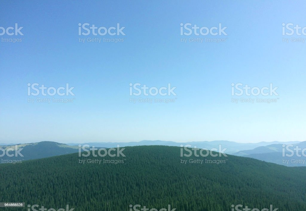 Scenic mountains hill view. Beautiful Carpathians nature landscape. royalty-free stock photo