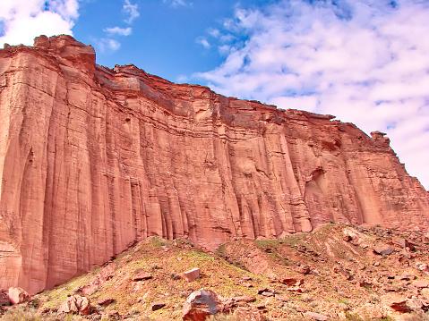 Scenic mountains of Talampaya National Park near San Juan,  Argentina