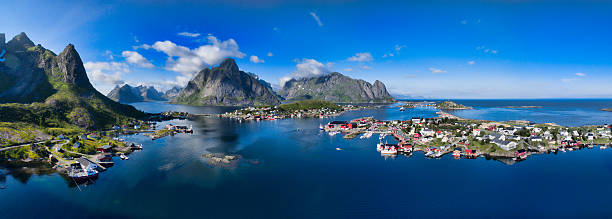scenic norway - fjord stock photos and pictures