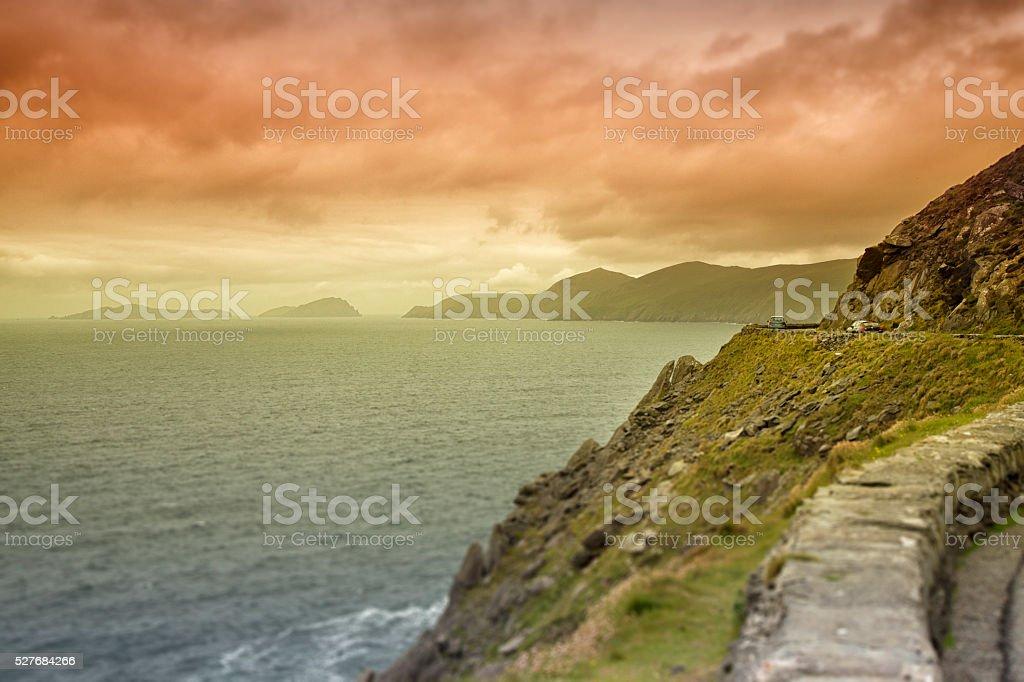 Scenic ocean drive stock photo