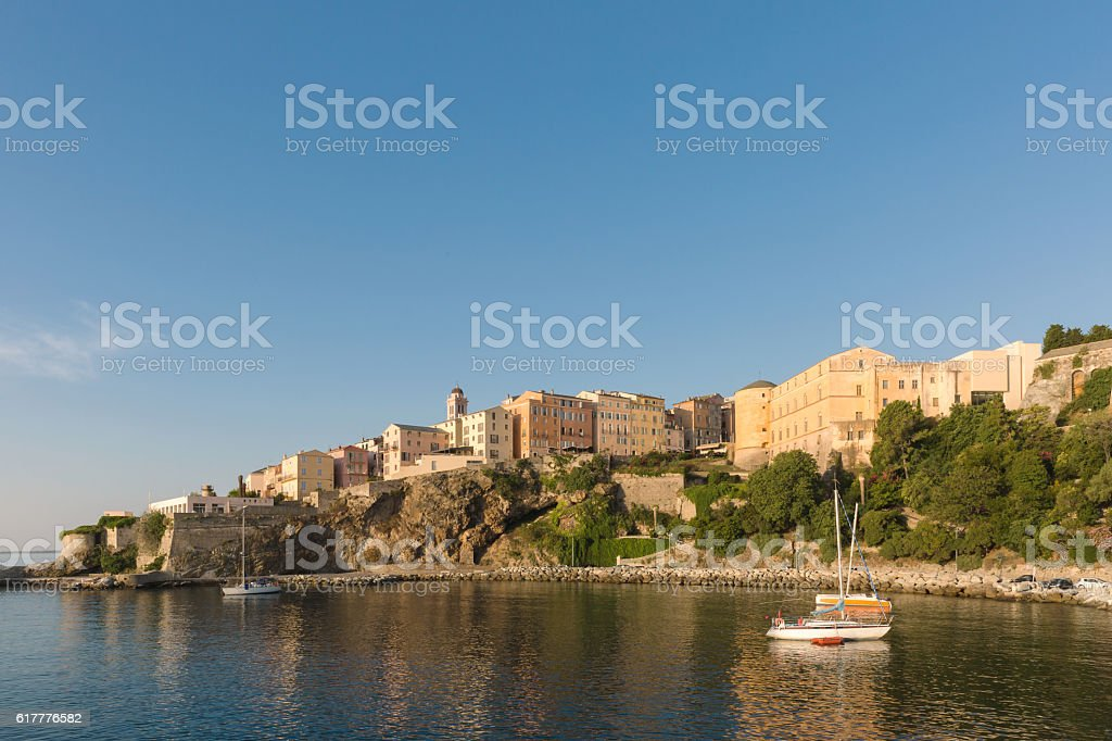 scenic of Bastia stock photo