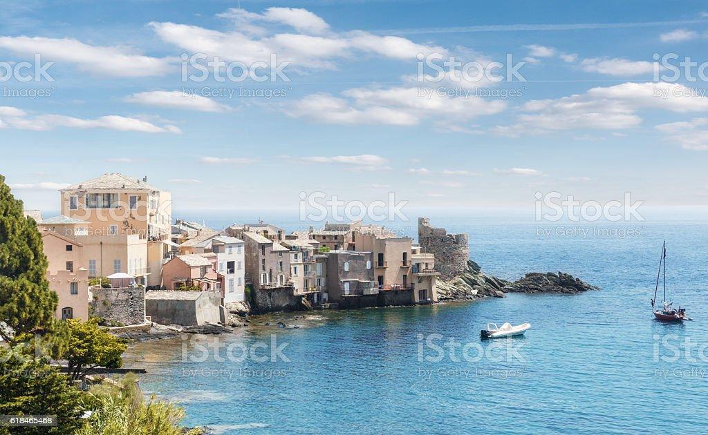 scenic of Bastia,Corsica,France stock photo