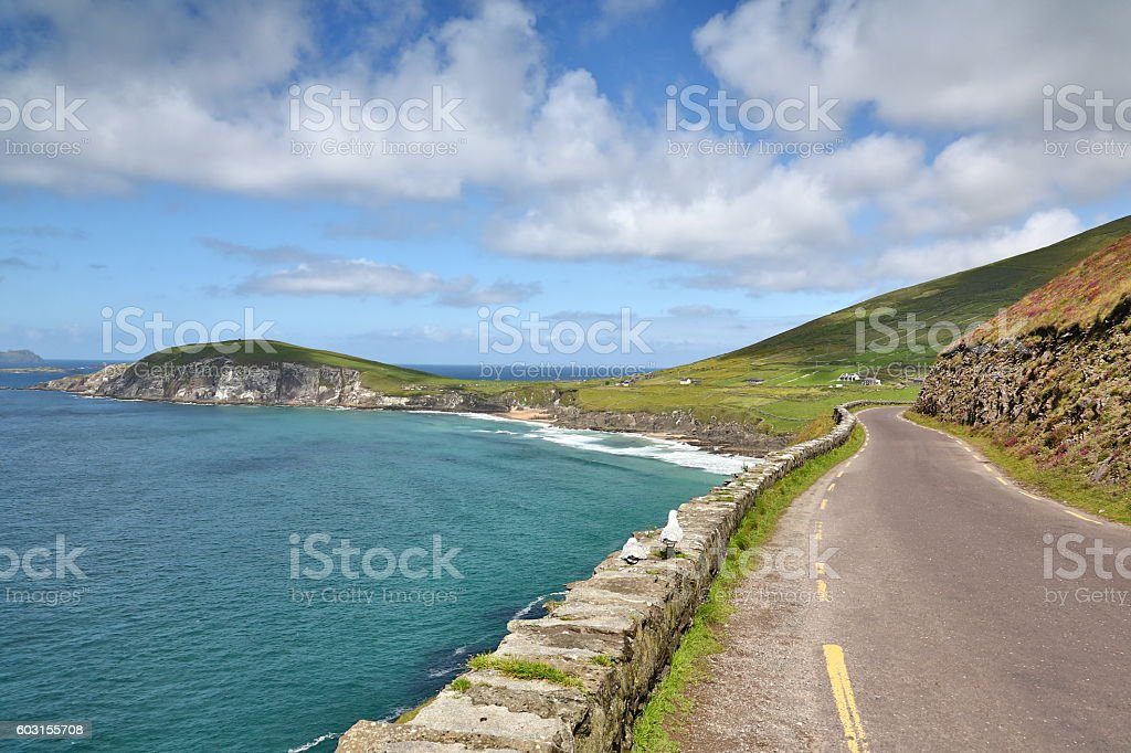 Scenic of Dingle coast road in Ireland stock photo