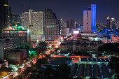 istock scenic of night urban cityscape in metropolis 1174558852