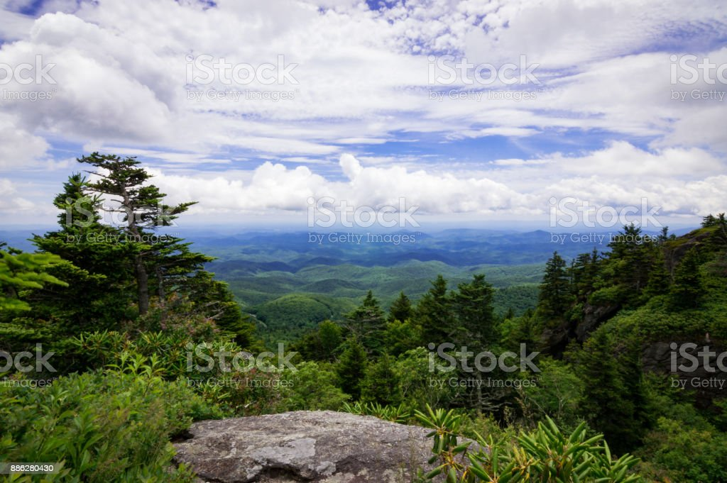 Scenic Overlook at Grandfather Mountain stock photo