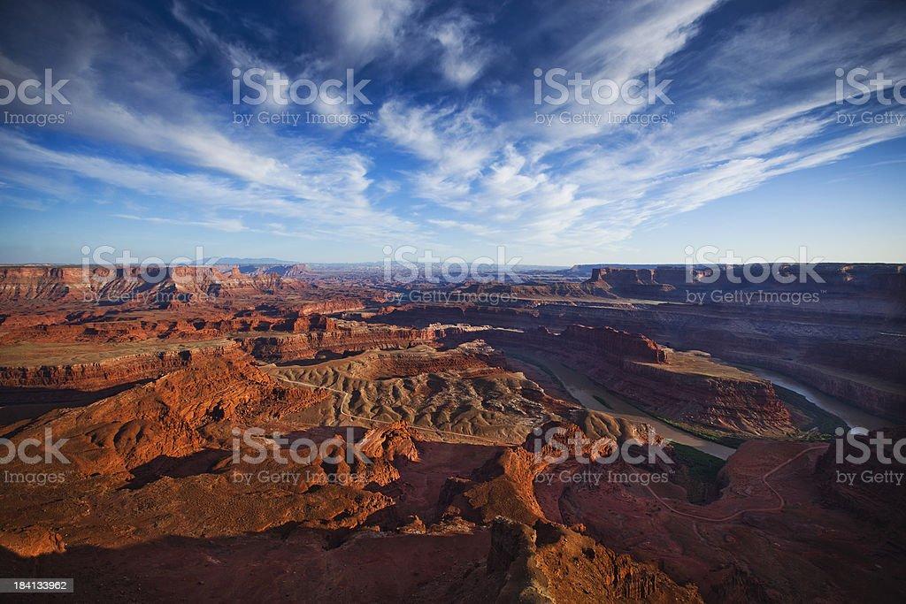 Scenic Panorama of Colorado River in Moab Utah royalty-free stock photo