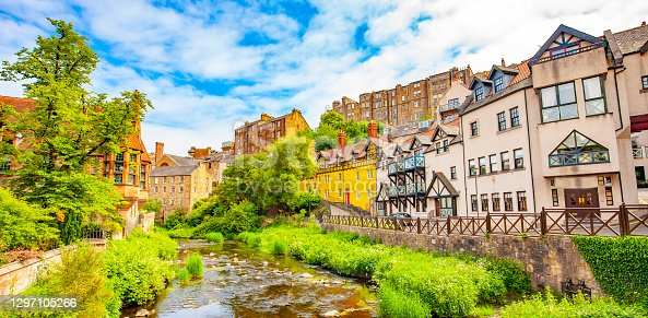 istock Scenic panorama of Dean Village, Edinburgh, Scotland 1297105266