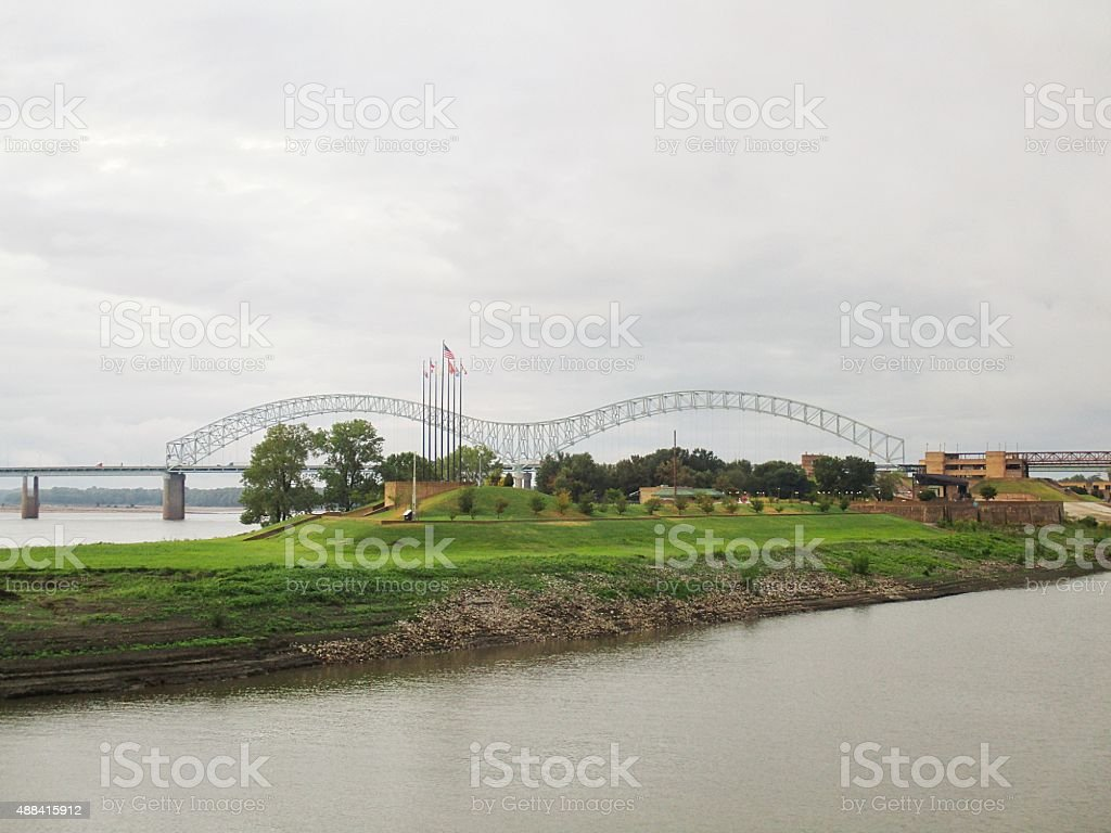 Scenic Park on the Mississippi River in Memphis, Tennessee stock photo