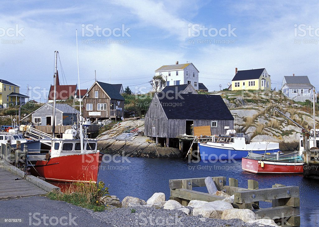 Scenic Peggy's Cove Harbour stock photo