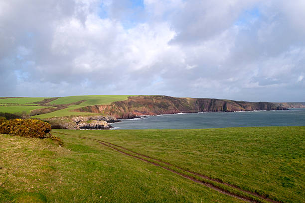 Scenic Pembrokeshire - Barafundle Bay stock photo