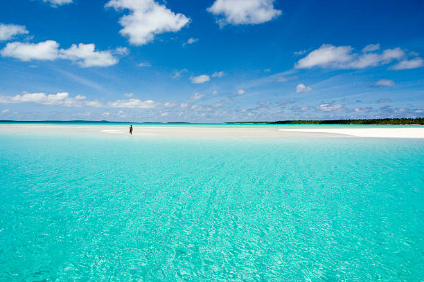 Scenic photo of a clear sea and beach  stock photo