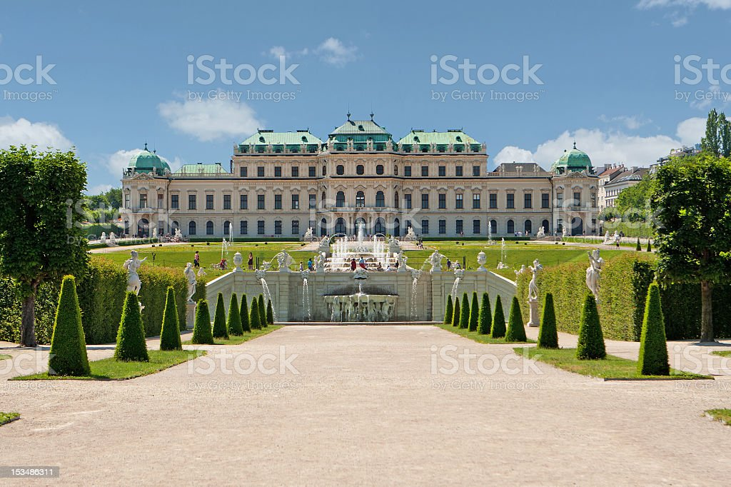 Scenic photo of Belvedere Palace, Vienna, Austria stock photo