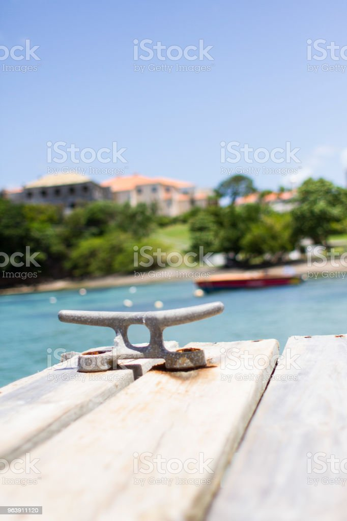 Scenic Pier in Grenada stock photo