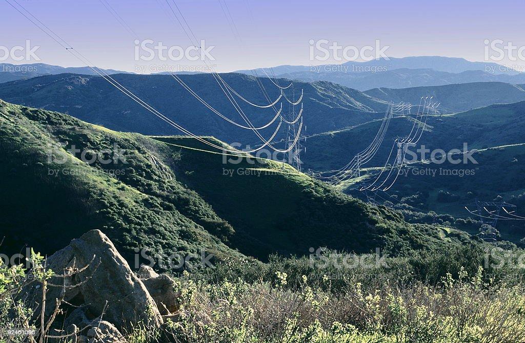 Scenic Power Lines stock photo