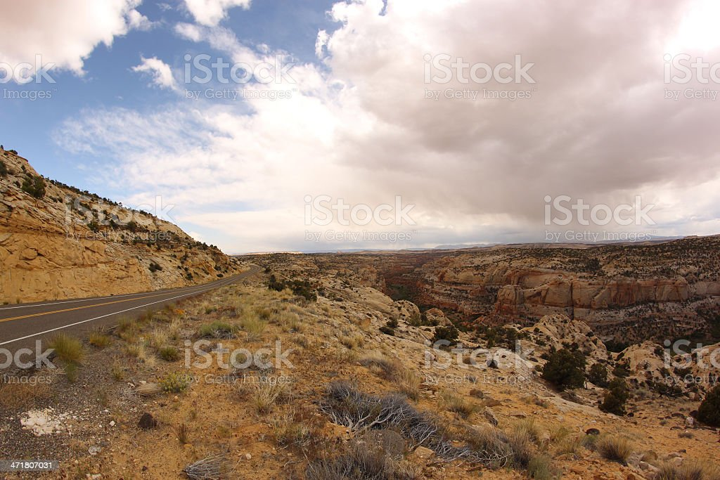 Scenic road Byway 12. Grand Staircase-Escalante, Utah, USA royalty-free stock photo