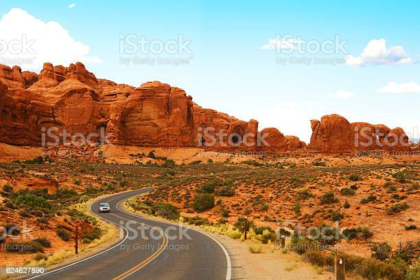Scenic Road In Arches National Park Utah Stock Photo - Download Image Now
