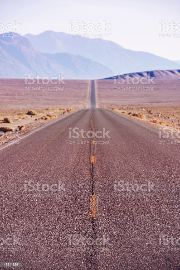 Scenic Road in Death Valley National Park California royalty-free stock photo