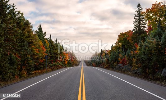 Scenic road with Autumn colors