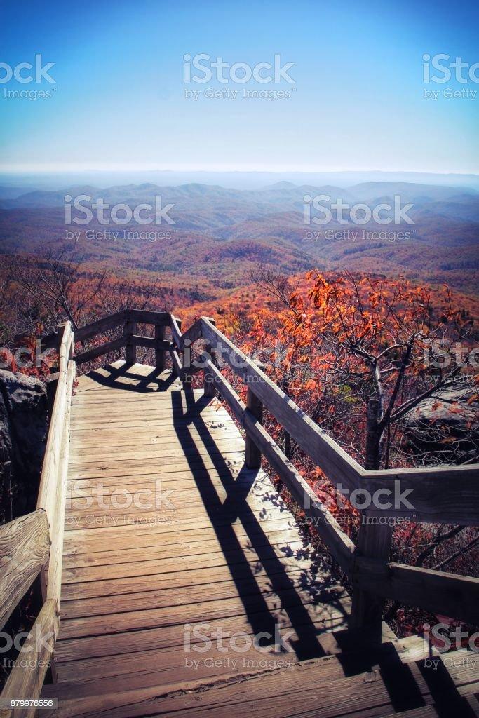 Scenic Rough Ridge Lookout Boardwalk stock photo